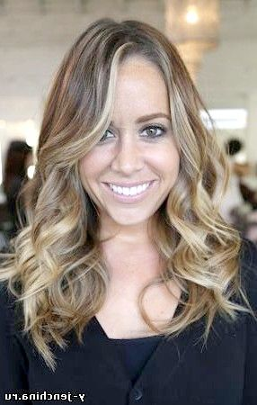 Каліфорнійське мелірування на русяве волосся фото