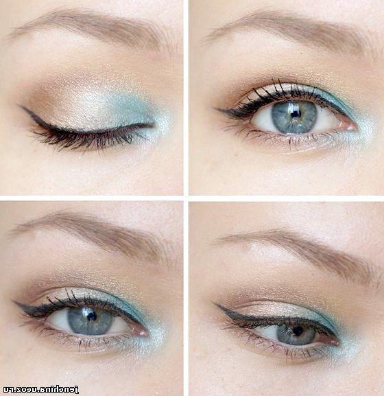 гарний макіяж для блакитних очей