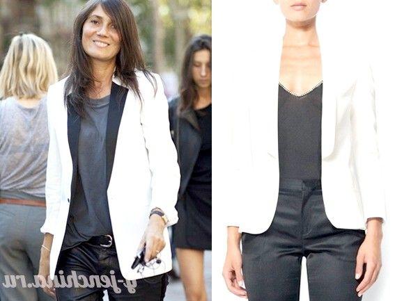 З чим носити білий піджак: фото добірка