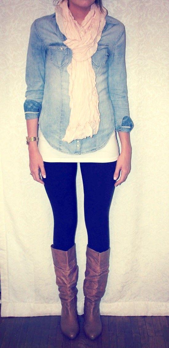 З чим носити джинсову сорочку: ідеї та фото