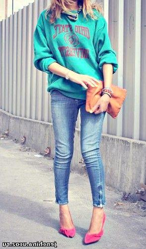 з чим носити джинси фото